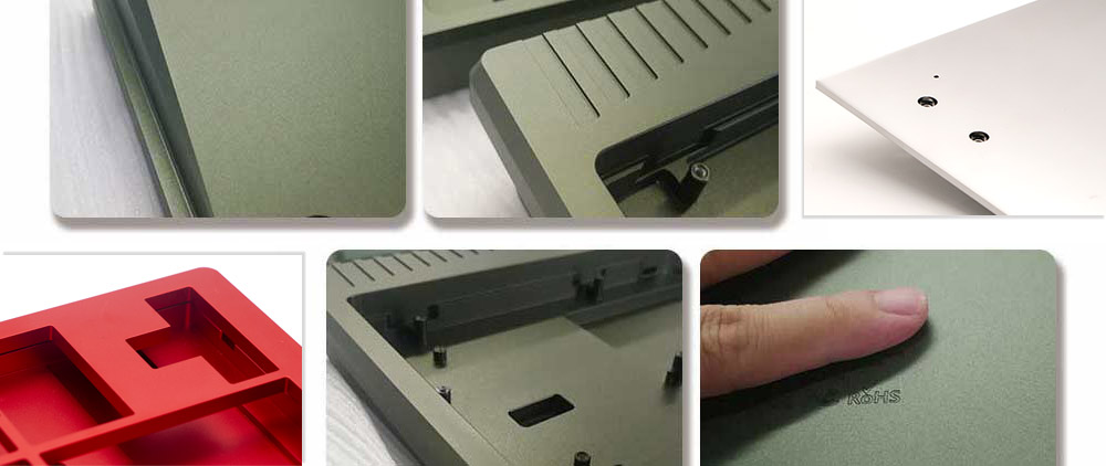Mechanical keyboard shell machining details