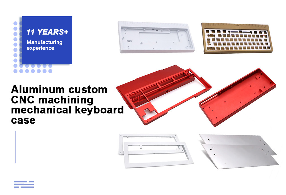 Custom CNC Machining Anodized Aluminum DIY Mechanical Keyboard Case