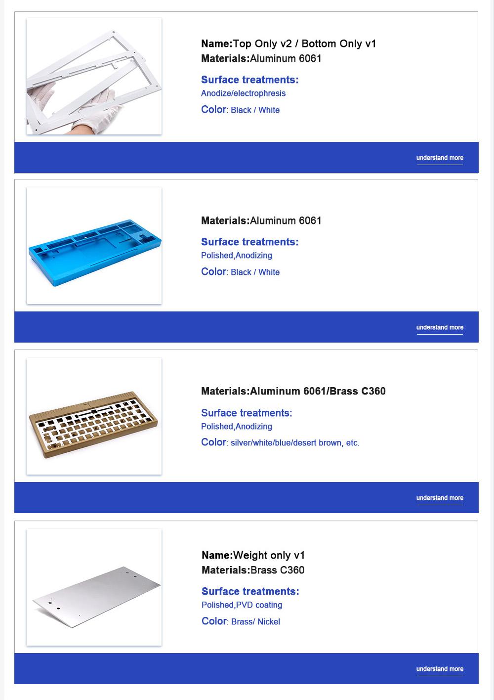 aluminum custom cnc machining mechanical keyboard case-6