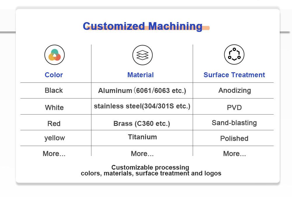aluminum custom cnc machining mechanical keyboard case Surface treatment